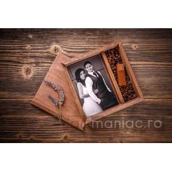 Cutie lemn (pătrat) stick + foto