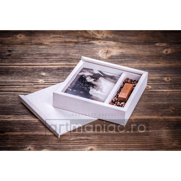 Cutie lemn (pătrat) stick + foto Model: CCW