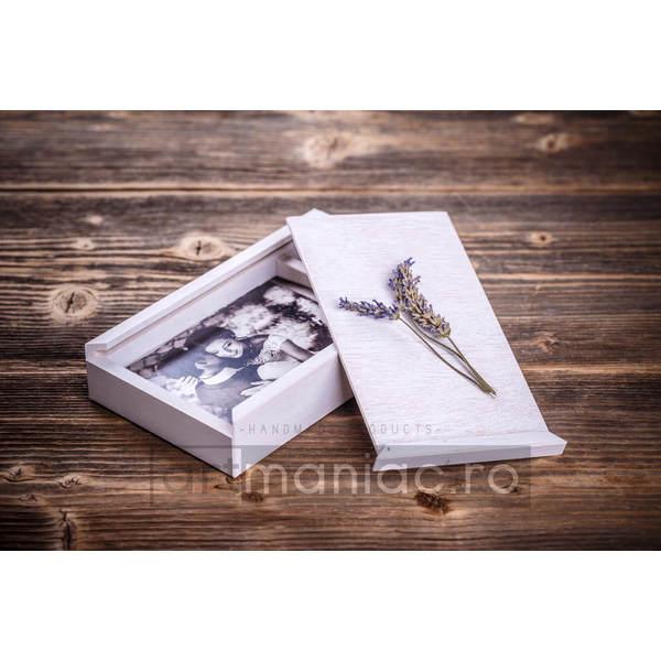 Cutie lemn (dreptunghiular) stick + foto model: CBW